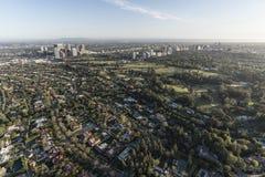 Beverly Hills, città di secolo ed antenna di Westood California Fotografia Stock
