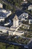 Beverly Hills City Hall Vertical Aerial Royalty Free Stock Images