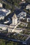 Beverly Hills City Hall Vertical-Antenne royalty-vrije stock afbeeldingen