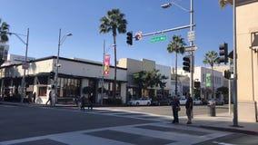 Beverly Hills, Dayton Way Timelapse footage. Transition stock footage