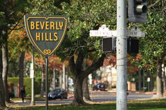 Beverly Hills Famous Sign Immagini Stock