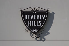 Beverly Hills Famous Symbol on Wall Royalty Free Stock Photography