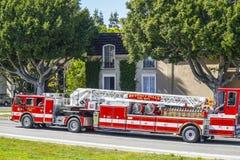 Beverly Hills Fire Department in Los Angeles - LOS ANGELES - KALIFORNIEN - 20. April 2017 Lizenzfreie Stockbilder