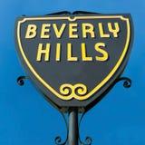 Beverly Hills firma dentro la vista del primo piano di Los Angeles fotografie stock libere da diritti