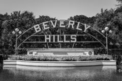 Beverly Hills Gardens Park in the city of Los Angeles royalty free stock photography