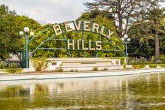 Beverly Hills Gardens Park firma adentro Los Ángeles Foto de archivo