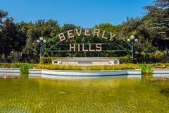 Beverly Hills Gardens Park nella città di Los Angeles fotografia stock libera da diritti