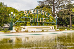 Beverly Hills Gardens Park sign in Los Angeles Stock Photo