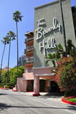 The Beverly Hills Hotel. Image of the entrance of the Beverly Hills Hotel, California, USA Royalty Free Stock Photo