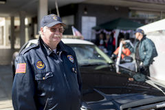 Beverly Hills klasyczny policjant przy Doncaster dumy LGBT wydarzeniem obraz royalty free