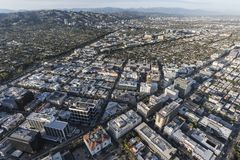 Beverly Hills and Los Angeles Aerial Royalty Free Stock Image