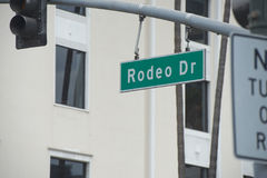 Beverly hills los angeles Rodeo Drive Stock Photo