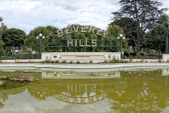 Beverly hills los angeles sign Royalty Free Stock Photography