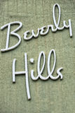 Beverly hills los angeles sign Royalty Free Stock Photo
