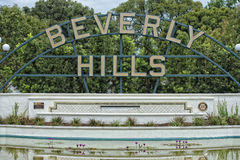 Beverly Hills Los Angeles tecken Arkivfoto