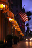 Beverly Hills at night stock photography