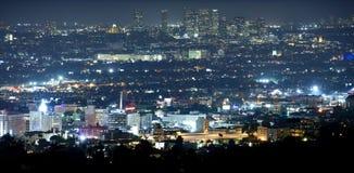 Beverly Hills på natten Arkivbilder