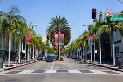 Beverly Hills på rodeodrev Royaltyfri Bild