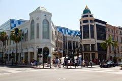 Beverly Hills på rodeodrev Arkivbild