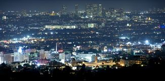 Beverly Hills przy nocą Obrazy Stock