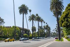 Beverly Hills Residential-gebied Royalty-vrije Stock Foto's
