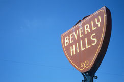 Beverly Hills road sign, Los Angeles, California Royalty Free Stock Photo