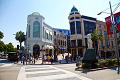 Beverly hills on rodeo drive Stock Images