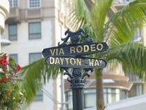 Beverly Hills rodeo przejażdżki znak Zdjęcia Stock