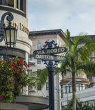 Beverly Hills rodeo przejażdżki znak Obraz Royalty Free