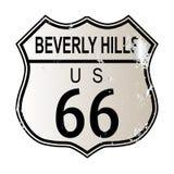 Beverly Hills Route 66 vektor illustrationer