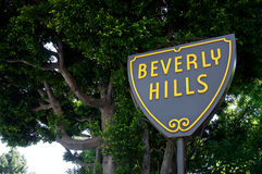 Beverly Hills Sign. Photo of iconic Beverly Hills street Sign Royalty Free Stock Images