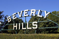 Beverly Hills sign. In Los Angeles rodeo drive royalty free stock photo