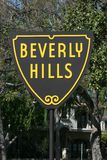 Beverly Hills Sign. World Famous Beverly Hills City Limits Sign Royalty Free Stock Image