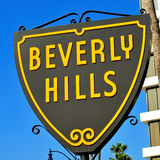 Beverly Hills sign. Closeup of a typical Beverly Hills sign, United States stock photos