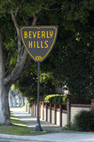 Beverly Hills sign. Sign showing Beverly Hills border royalty free stock photography