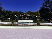 Beverly Hills Sign stock image