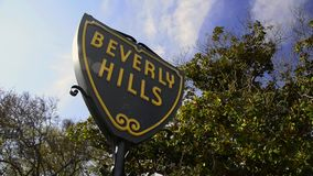 Beverly Hills. Sign indicating the entrance to one of the most exclusive sectors of Los Angeles