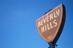 Beverly Hills sign, Los Angeles, CA Royalty Free Stock Photography