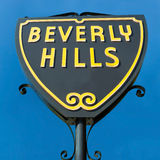 Beverly Hills sign in Los Angeles close-up view royalty free stock photos