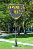 Beverly Hills sign in Los Angeles park stock photography