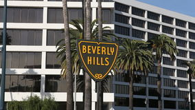 Beverly Hills Sign Moving Editorial stock video