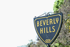 Beverly Hills. The Beverly Hills sign on a sunny day Royalty Free Stock Photos