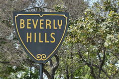 Beverly Hills sign Stock Photography