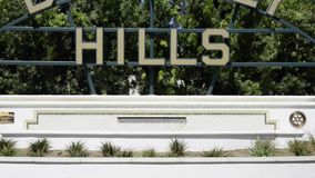 Beverly Hills sign stock video