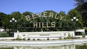 Beverly Hills sign stock video footage