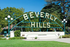 Beverly Hills signent dedans le stationnement de Los Angeles image stock