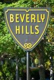 Beverly Hills signent dedans le stationnement de Los Angeles images libres de droits