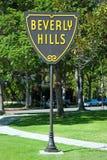 Beverly Hills signent dedans le stationnement de Los Angeles photographie stock