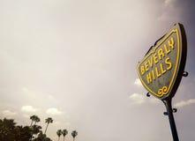 Beverly Hills Street Sign stockfotos