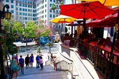 Beverly Hills sur la commande de rodéo Image libre de droits